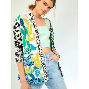 Anthropologie NWT Maeve Savannah Contrast Cardigan Size S.